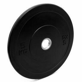Anilha Olimpica Importada Bumper Borracha Preta  - 5kg