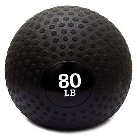 Bola Slam Ball 80 Libras Preta Rope Store