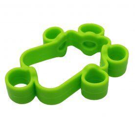Extensor Elástico Para Fortalecimento Dos Dedos - 4Kg/8,8Lb - Médio Verde