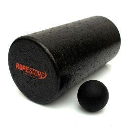 Kit Foam Roller Rolo de Massagem 30cm + Lacrosse Ball Rope Store