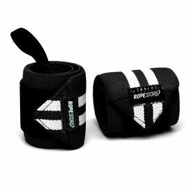 Munhequeira Wrist Wraps Preto x Branco Rope Store