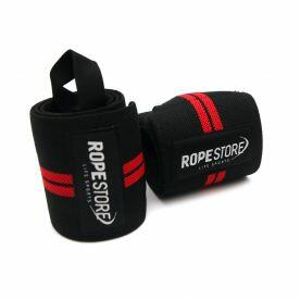 Munhequeira Wrist Wraps Preto x Vermelho RS Rope Store