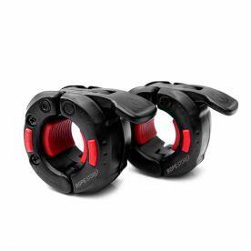 Presilha para Barra de Musculação Lock Press One 28 mm Preto x Vermelho